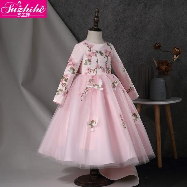 洋裝 連身裙  女童連衣裙2018秋裝新款冬裝洋氣兒童裝裙子公主裙秋冬女寶寶女孩 女童裝8歲以上