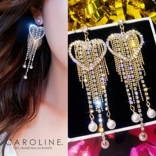 《Caroline》★韓國熱賣造型時尚  閃人耀眼水鑽  耳環70440