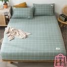 單件雙人床包 水洗床笠純棉床罩床套防滑固定【匯美優品】