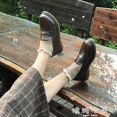 可愛軟妹小皮鞋女日系平底JK制服鞋復古學院風秋季ins女鞋英倫潮  嬌糖小屋
