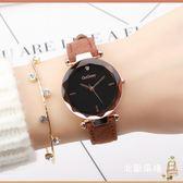 降價兩天-手錶女學生正韓簡約復古森系潮流石英女錶防水皮帶休閒女士時裝錶