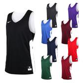 NIKE 男雙面籃球針織背心 (無袖背心 慢跑 路跑 健身 訓練
