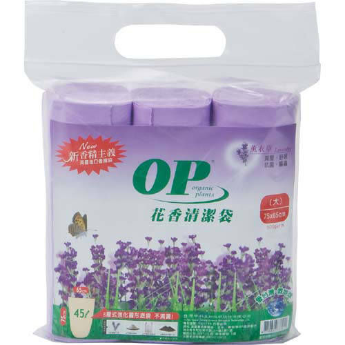 OP花香清潔垃圾袋-薰衣草(大)75*65cm【愛買】