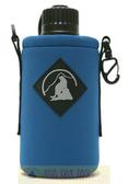 Outdoor Active OA山貓 1000CC水壺套(大) 藍 P-1000 附背帶 配件 水壺袋 適用Nalgene水壺【易遨遊】