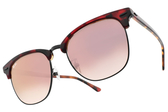 RayBan漸層太陽眼鏡 RB3016F 12753B (琥珀棕-淺紫水銀紫粉鏡片) 時尚新寵經典眉框款 # 金橘眼鏡