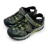 LIKA夢 LOTTO 專業排水護趾運動涼鞋 水陸悍將系列 軍綠黑 6105 男