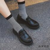 厚底英倫風單鞋女樂福鞋復古小皮鞋【毒家貨源】