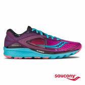 SAUCONY KINVARA 7 輕量緩衝專業訓練鞋-桃紅x紫x藍