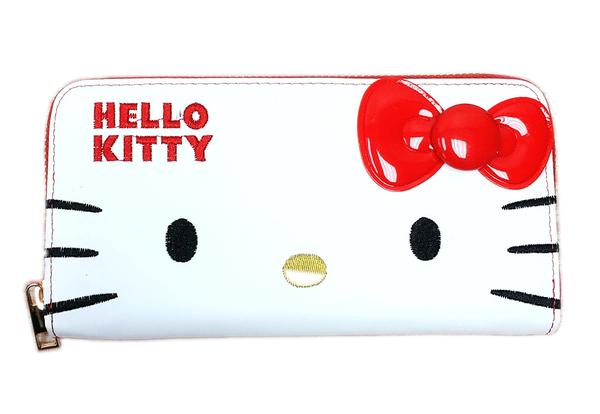 【卡漫城】 Hello Kitty 長夾 大臉 剩紅白款 ㊣版 手機包 拉鏈平口 皮夾 仿皮 零錢包 卡片夾 凱蒂貓