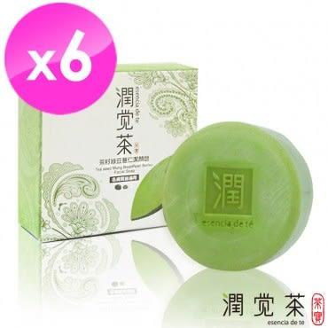 【茶寶 潤覺茶】茶籽綠豆薏仁潔顏皂(6入組)