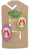 美國手工髮夾髮飾啪啪夾: 魔鏡公主: LM-HCA231