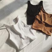 超豐國際夏裝女裝顯瘦修身露背小吊帶彈力緊身打底短款背心女1 入
