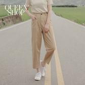 Queen Shop【04101411】側邊直口袋素面長褲 兩色售 S/M/L*現+預*