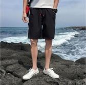 短褲男 短褲 亞麻 棉麻 五分褲 休閒 中褲 大碼 寬鬆 沙灘褲 大褲衩
