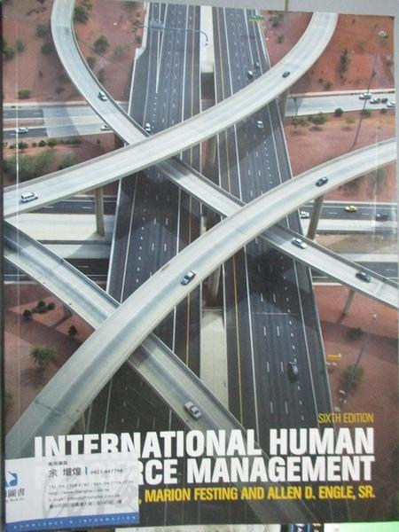 【書寶二手書T8/進修考試_ZFD】International Human Resource…