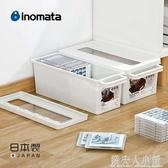 inomata日本進口CD收納盒塑料ps4游戲光碟相冊漫畫書整理盒光盤盒 錢夫人小鋪