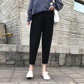 大尺碼褲子 2018加大碼女裝200斤胖mm寬松顯瘦針織闊腿女褲子
