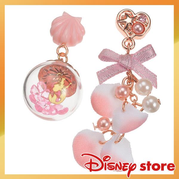 日本迪士尼人魚公主愛麗兒耳針耳飾耳環貝殼粉球725865通販屋
