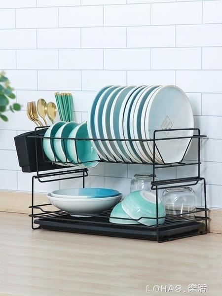 碗碟架瀝水架雙層廚房用品碗盤餐具置物架家用放碗筷收納盒瀝碗架 樂活生活館