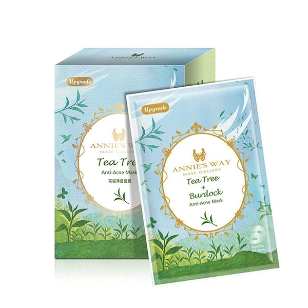 Annie,s Way 安妮絲薇 夢幻秘境系列 茶樹牛蒡淨痘調理面膜 10片/盒