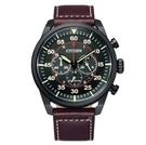 CITIZEN 星辰 光動能三眼計時手錶 CA4218-14E