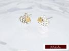 585K(14K)金 義大利進口  雙色白K金  耳環 耳釘