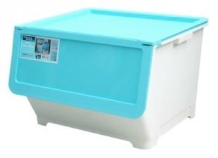 【好市吉居家生活】嚴選聯府KEYWAY~ LV800-1 前開式65L整理箱(藍) 置物箱 收納箱