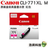 CANON CLI-771 XL M 紅 原廠盒裝墨水匣 適用MG5770 MG6870 MG7770