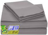 [8美國直購] AmazonBasics 床單 Microfiber Bed Sheet Set - King, Dark Grey