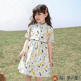 女童連身裙兒童公主裙中大童網美童裝裙子潮夏裝【淘夢屋】