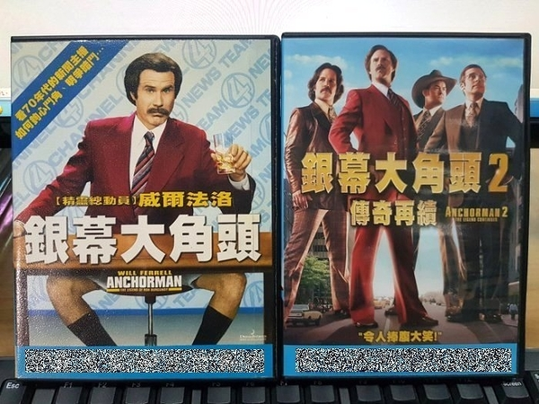 挖寶二手片-C59-正版DVD-電影【銀幕大角頭1+2/系列2部合售】-(直購價)