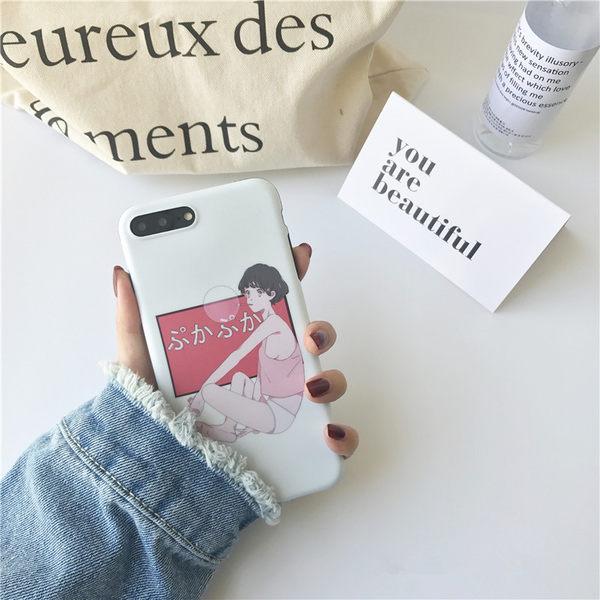 日系字母少女iPhone7plus手機殼索尼Z3 Z4 Z5plus磨砂半包HTC816  檸檬衣舍