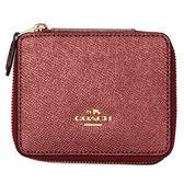 COACH珠光荔枝紋皮革珠寶飾品盒(紅色)198221-2