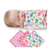《美國Summer infant》聰明懶人純棉包巾(甜心小象3入組) ㊣原廠授權總代理公司貨