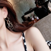 【限時下殺89折】冷淡風耳環女歐美復古耳墜耳飾韓國氣質長版吊墜個性耳釘交換禮物