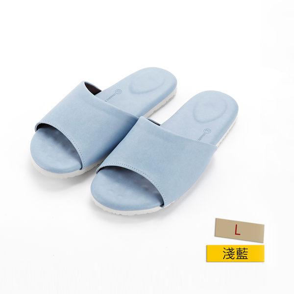 HOLA 健康機能乳膠拖鞋 淺藍 L