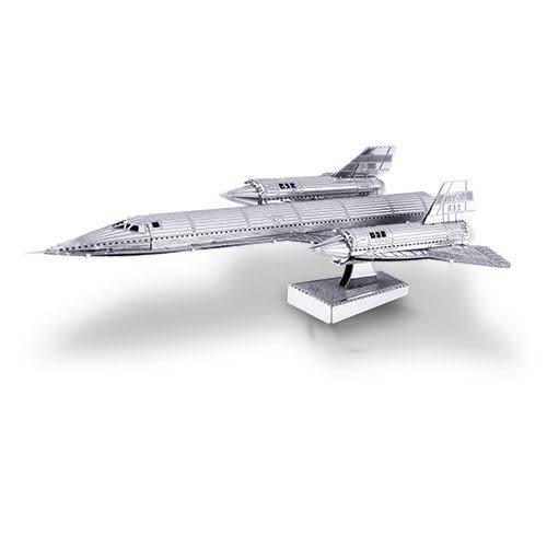 ★funbox玩具★METALLIC NANO PUZZLE 金屬微型模型拼圖 28 SR-71黑鳥 NO21928
