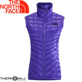 【The North Face 女 ThermoBall 暖魔球 保暖背心 星空紫】 CUD6/暖魔球背心★滿額送
