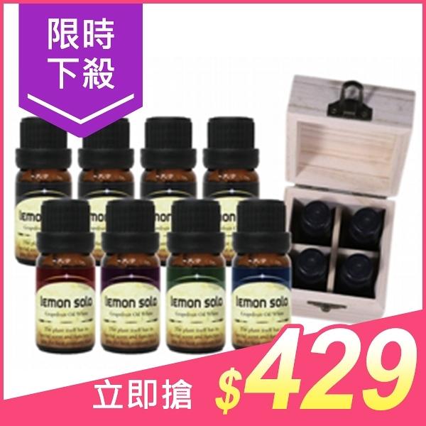 lemon solo 夏日樂活組合(4瓶精油+松木盒) 兩款可選【小三美日】$459
