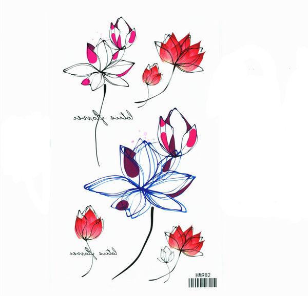 薇嘉雅   花朵  紋身貼紙 HM982