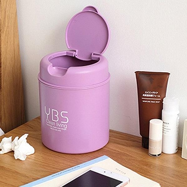 翻蓋款迷你垃圾桶 桌面 收納筒 化妝檯 桌上 小號 家用 時尚 辦公室【J168】MY COLOR