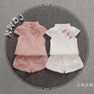 套裝女童旗袍2019新款夏裝套裝4中國風5唐裝1-2-3歲女寶寶夏季裝套裝6
