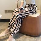 (人棉)海邊度假沙灘褲女士夏季薄款哈倫燈籠褲防蚊褲寬鬆棉綢睡褲 果果輕時尚