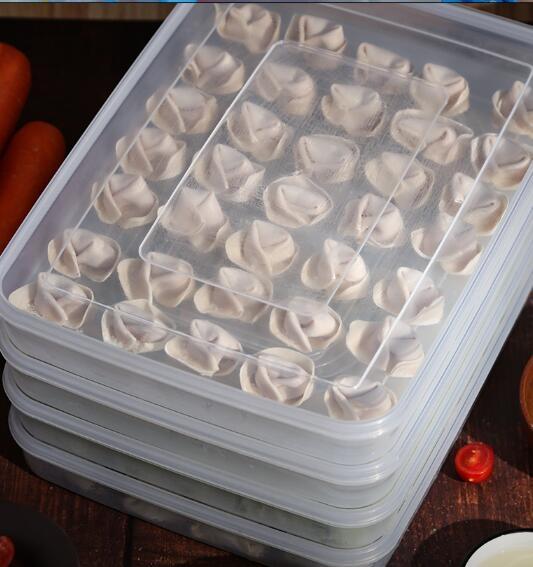 餃子盒 餃子盒食品級家用冷凍多層裝放冰凍水餃存放保鮮的托盤冰箱收納盒【快速出貨八折搶購】