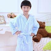 兒童浴袍 寶寶浴袍兒童純棉睡袍親子男女孩冬季帶帽毛巾料加厚長款浴衣吸水