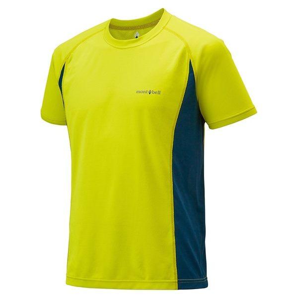 日本mont-bell COOL T 男款排汗短袖T恤 排汗衣 專利 Wickron 材質 1104926 FG/DT 鮮綠/墨綠