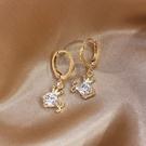 時尚圓環耳釘女氣質韓版皇冠小金魚耳扣簡約冷淡風耳環小巧耳飾品