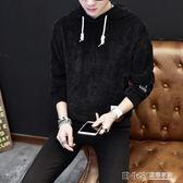 連帽衛衣男生韓版寬鬆上衣服青少年百搭休閒外套學生長袖t恤 溫暖享家