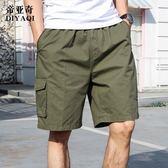 夏季男士爸爸裝棉質寬鬆中老年人休閒五分褲 KB2294【每日3C】