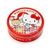 小花花日本精品 Hello Kitty三麗鷗 日本 圓型鐵盒餅乾 綜合餅乾禮盒 下午茶 送禮 伴手禮90122606